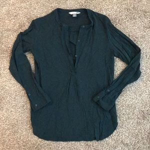 Old Navy size medium forest green blouse.